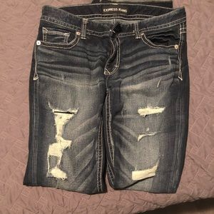 Bootleg low rise jeans